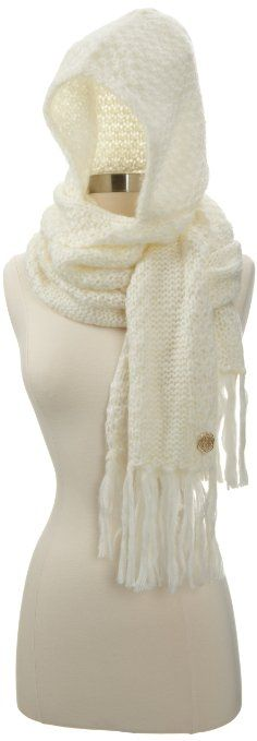 Amazon.com: Vince Camuto Women's Hooded Scarf, White, One Size: Clothing