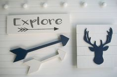Antler Sign . Deer Head . Antler Nursery . 3D by RessieLillian