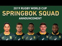 MAX SPORTS: RUGBY WORLD CUP 2019: SPRINGBOK RUGBY WORLD CUP SQ...