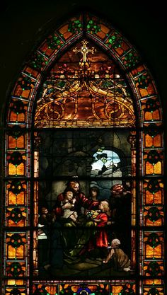 Christ Blessing the Little Children. Louis Comfort Tiffany. 2nd Presbyterian Church, Chicago, IL