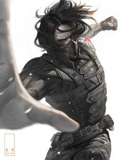 The Winter Soldier, Bucky Marvel Comics, Marvel Heroes, Marvel Avengers, Nightwing, Batwoman, Marvel Wallpapers, Avengers Wallpaper, Comic Art, Winter Soldier Bucky