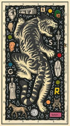 Las ilustraciones y collages de Bene Rohlmann Tiger Rug, Arte Obscura, Illustrator Tutorials, Typography Art, Illustrations And Posters, Grafik Design, Gravure, Cat Art, Graphic Illustration