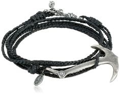 M.Cohen Handmade Designs Silver Anchor Charm On Triple Wrap Braided Rope Bracelet *** Find out more details by clicking the image : trend jewelry 2016