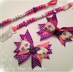 Matching bow and Dummy clip set