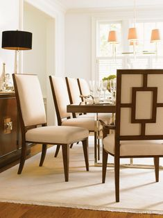 Mirage Mirage Monroe Rectangular Double Pedestal Dining Table in Warm Brown | Lexington | Home Gallery Stores