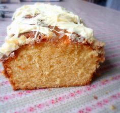 White Chocolate drizzled Orange Cake