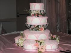 Quinceanera cake - This cake was made for about 300 servings cover with butter cream icing.