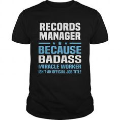 RECORDS MANAGER T-SHIRTS T-SHIRTS, HOODIES  ==►►Click To Order Shirt Now #Jobfashion #jobs #Jobtshirt #Jobshirt #careershirt #careertshirt #SunfrogTshirts #Sunfrogshirts #shirts #tshirt #hoodie #sweatshirt #fashion #style