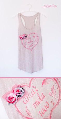 amor love mola Latontaelrosa camiseta tank top t-shirt chica rosa pink ilustración illustration accesorios accessoires ropa clothes regalos gift miraquechulo
