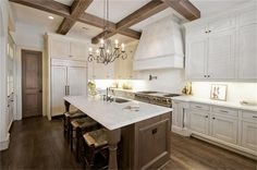 Pretty kitchen with wood floors