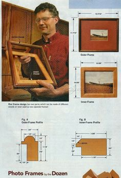 #2055 Wooden Photo Frame Making - Woodworking Plans
