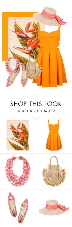 """Bird of Paradise"" by highly-fashionable-shark ❤ liked on Polyvore featuring Miss Selfridge, Coppola e Toppo, Loeffler Randall, Lucy Choi London, Eugenia Kim, orangeoutfit and popsoforange"