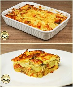 Lasagna, Macaroni And Cheese, Fries, Clean Eating, Veggies, Cooking Recipes, Meals, Baking, Ethnic Recipes