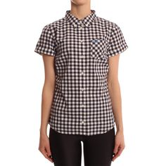 Fred Perry Womens Navy Gingham Shirt