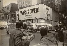 """""""War is over! If you want it. Happy Christmas from John & Yoko"""". LENNON, John and Yoko Ono, """"War Is Over"""" poster campaign, 15 December 1969."""
