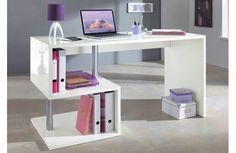 Fun and Modern Study Desk Contemporary Office, Modern Desk, Contemporary Furniture, Bureau Design, Home Office Furniture Desk, Office Desk, Large Desk, Adjustable Height Desk, Study Desk