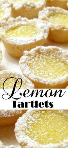 Easy recipe for Lemon Tartlets. Delicious little cookies filled with a sweet lem… Easy recipe for Lemon Tartlets. Delicious little cookies filled with a sweet lemony center are perfect for Christmas or with tea as a dessert. Lemon Dessert Recipes, Tart Recipes, Baking Recipes, Cookie Recipes, Desserts With Lemon, Recipes With Lemon, Lemon Ideas, Simple Recipes, Drink Recipes