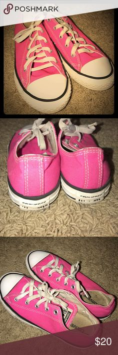 Pink Converse Size 3 Could use a wash, but overall in decent condition. Lots of wear left! 150 Converse Shoes Sneakers