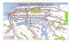 Geopolitical Map US NY Trains 1920s