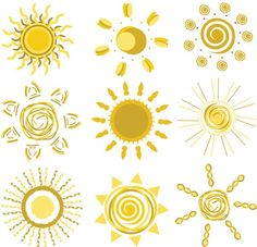 All kinds of sun pattern vector material