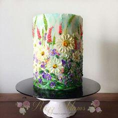 Wild Flowers by Razz Adams cake decorating ideas Wild Flowers von Razz Adams kuchen Deko-Ideen Gorgeous Cakes, Pretty Cakes, Wildflower Cake, Cake Decorating Techniques, Decorating Ideas, Hand Painted Cakes, Gateaux Cake, Buttercream Flowers, Buttercream Cake Decorating