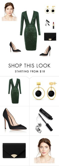"""""""OUTFIT AÑO NUEVO GALA 4"""" by jeniffercrystel on Polyvore featuring moda, BERRICLE, Gianvito Rossi, Bobbi Brown Cosmetics, MICHAEL Michael Kors y Jennifer Behr"""