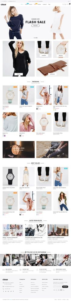 Claue is Premium full Responsive Retina WordPress Theme. If you like this eCommerce Theme visit our handpicked list of best Themes at: Fashion Wordpress Theme, Top Wordpress Themes, Wordpress Theme Design, Ecommerce Template, Fashion Templates, Viral Marketing, Website Themes, Web Design Inspiration, Layouts