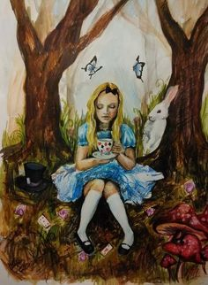Alice by Kathy Ross, Ireland. Watercolour and pencil