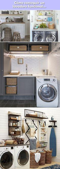 Ideas para decorar lavaderos. Cuartos de lavado. Lavaderos en casa.