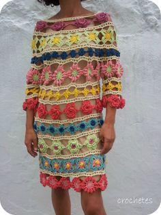 Crochetes: Vestido#naturadmc