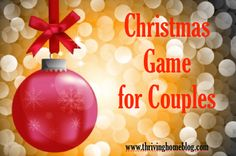 Fun Christmas party game for couples with a free printable
