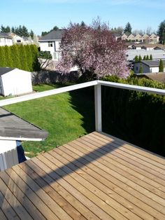 Adding a handrail to the deck