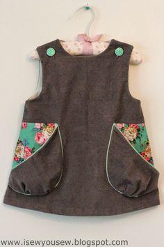 I Sew, You Sew: Retro Reproduction Dress: Corduroy & Pockets