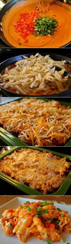 Cheesy Chicken Enchilada Pasta