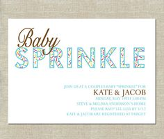 Baby Sprinkle Invitation  PRINTABLE  Couples by InvitationCeleb, $15.00