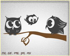 Owls, SVG cut  file, Cut file Owls, Cut files for Kids, SVG files for cricut