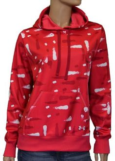 Under Armour Women's Smudge Print Hoodie Sweatshirt-Red « Clothing Impulse