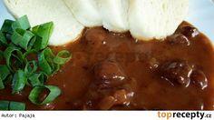 Srnčí guláš na červeném víně Mashed Potatoes, Food And Drink, Pudding, Beef, Ethnic Recipes, Desserts, Red Peppers, Whipped Potatoes, Meat