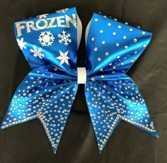 Frozen cheer bow by SarahsCheerBows on Etsy https://www.etsy.com/listing/239496489/frozen-cheer-bow