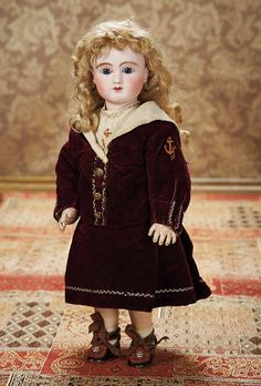 As in a Looking Glass: 12 Gorgeous French Bisque Bebe Steiner,Figure C,from Au Nain Bleu