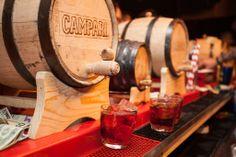 Manhattan Cocktail Classic 2014: Bartender's Bash, NYC. #Negroni in a barrel! #Campari