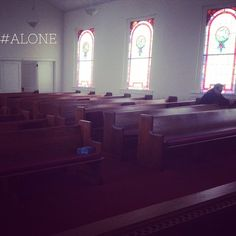 """We are never truly #alone for Jesus promised to be with us always. #rethinkchurch #lentphotoaday"""