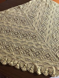 Ravelry: Daisy Chain Shawl pattern by Kirsten Bishop Crochet Quilt, Crochet Poncho, Knitted Shawls, Crochet Scarves, Crochet Yarn, Crochet Clothes, Crochet Stitches, Doily Patterns, Prayer Shawl Patterns