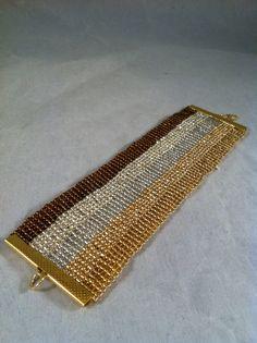 Manschette Armband breit Samen Perlen Armband Breite von jochec