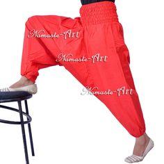100% Cotton Casual Harem Aladdin Trousers Gypsy Unisex Baggy Yoga Hippie Pants  #Unbranded #Harem
