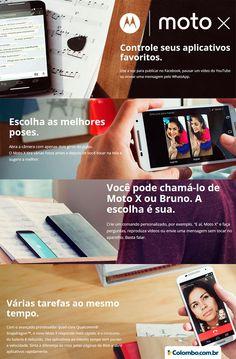 Tecnologia, facilidade e estilo em um só aparelho. O novo Moto X já chegou na Lojas Colombo: http://www.colombo.com.br/produto/Telefonia/Smartphone-Motorola-Novo-Moto-X-Preto-Android-4-4-4G-32GB-13MP-XT1097?utm_source=Pinterest&utm_medium=Post&utm_content=Smartphone-Motorola-Novo-Moto-X-Preto-Android-4-4-4G-32GB-13MP-XT1097&utm_campaign=Produto-22set14