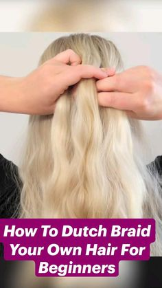 Cute Simple Hairstyles, Easy Hairstyles, Pretty Hairstyles, School Hairstyles, Wedding Hairstyles, Braiding Your Own Hair, How To Cut Your Own Hair, Pin Up Hair, Short Hair Styles