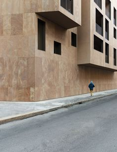 View the full picture gallery of Housing In Milan Urban Intervention, Stone Facade, Urban Fabric, Facade Architecture, Beautiful Buildings, Gallery, Outdoor Decor, Pictures, Design