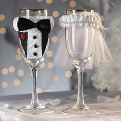 2015 Wedding Supplies Champagne Glasses Covers Bride And Groom Discount  Wedding Decorations Supplies