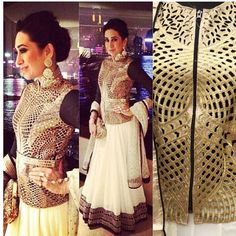karishma kapoor off white georgette lehenga with jacket  lehenga - georgette  dupatta - net with sequins blouse - georgette  jacket - cut work with zipper max jacket size- 44 inches  Available with us  Watsapp - 91 9930777376 Email -  fashioncloset06@gmail.com Or DM for enquiries.  #patialasuit #sari  #indiandesigner #indiansuits #indianbrides #manishmalhotra #saree #indianclothes #punjabiweddings #bridalwear #eid #sikhweddings #indianwear #vancouverwedding #indiancouture #anushreereddy…